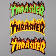 Thrasher Flame Logo Sticker 3-Pack Medium
