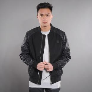 Urban Classics Cotton Bomber Leather Imitation Sleeve Jacket