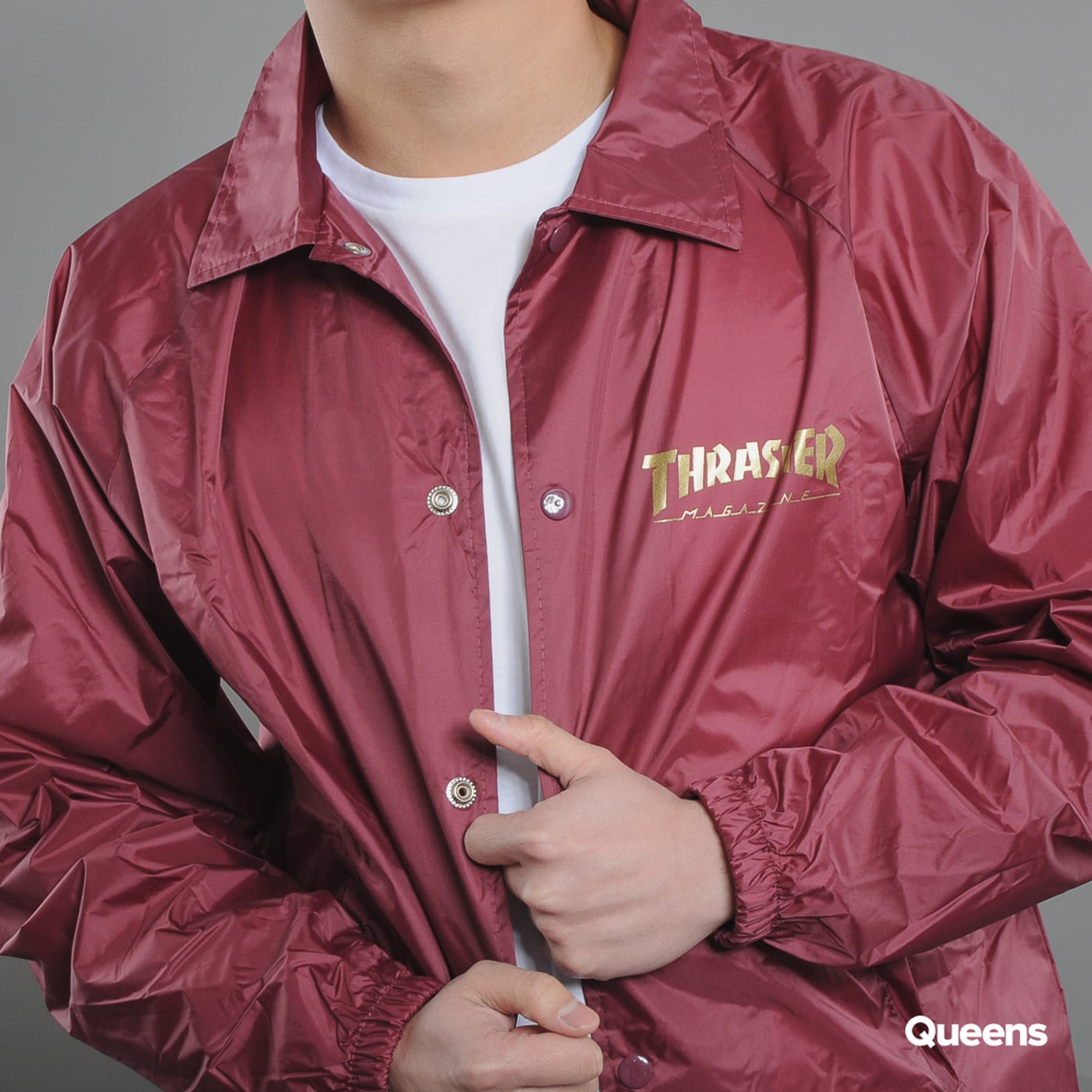 Thrasher Pentagram Coach Jacket bordeaux