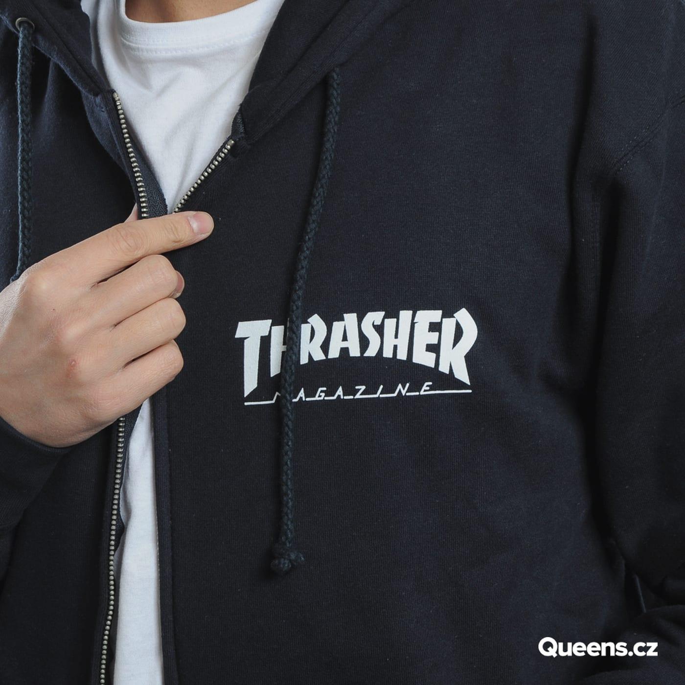 Thrasher Magazine Logo Zip Hood navy