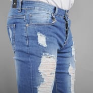 Sixth June Slim Destroyed Jeans blue