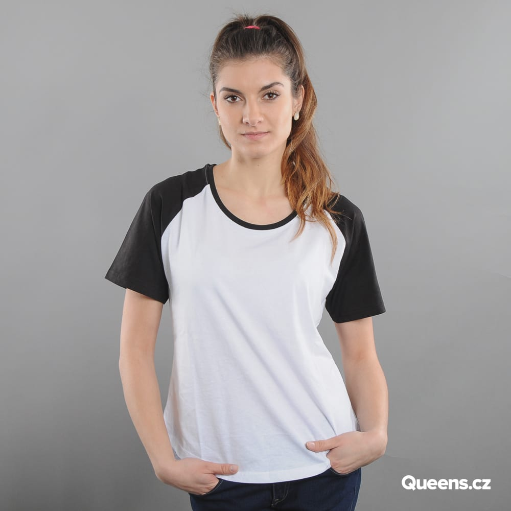 Urban Classics Ladies Raglan Hi Lo Tee white / black