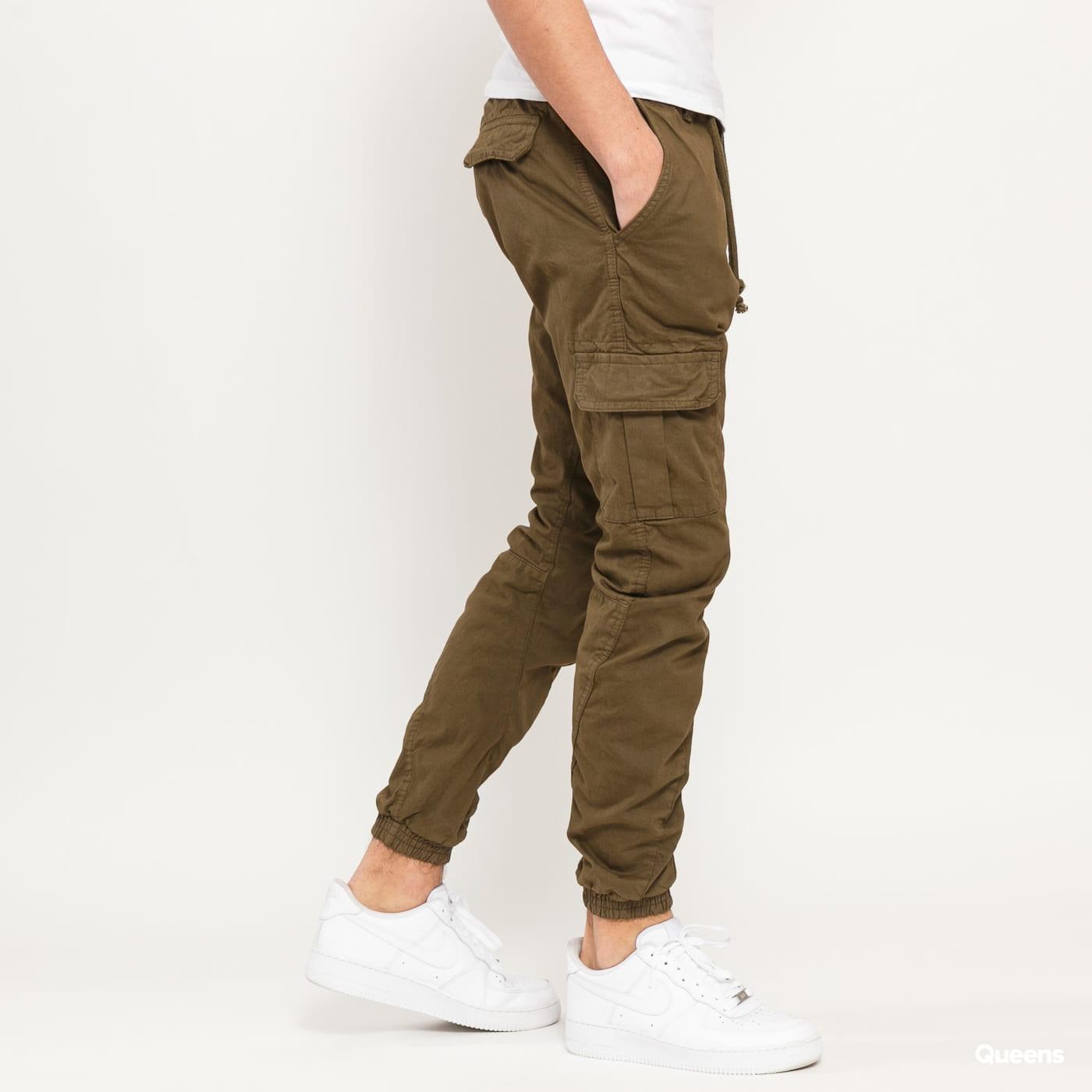 Urban Classics Cargo Jogging Pants olivové