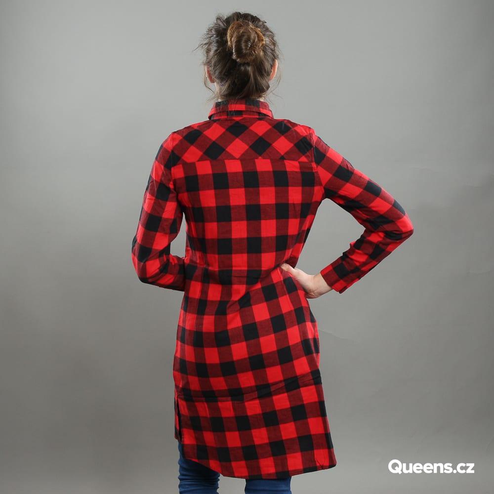 Urban Classics Ladies Checked Flanell Shirt Dress black
