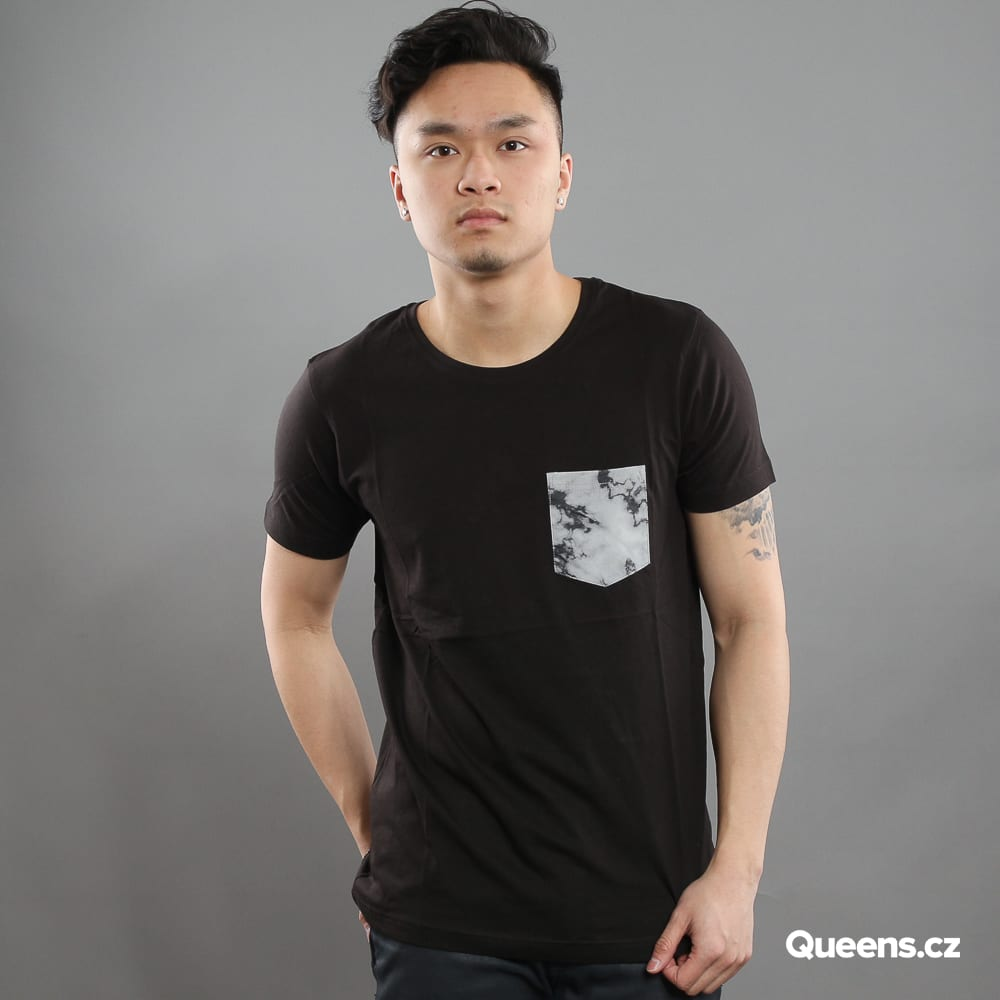 Urban Classics Contrast Pocket Marble Tee black / gray