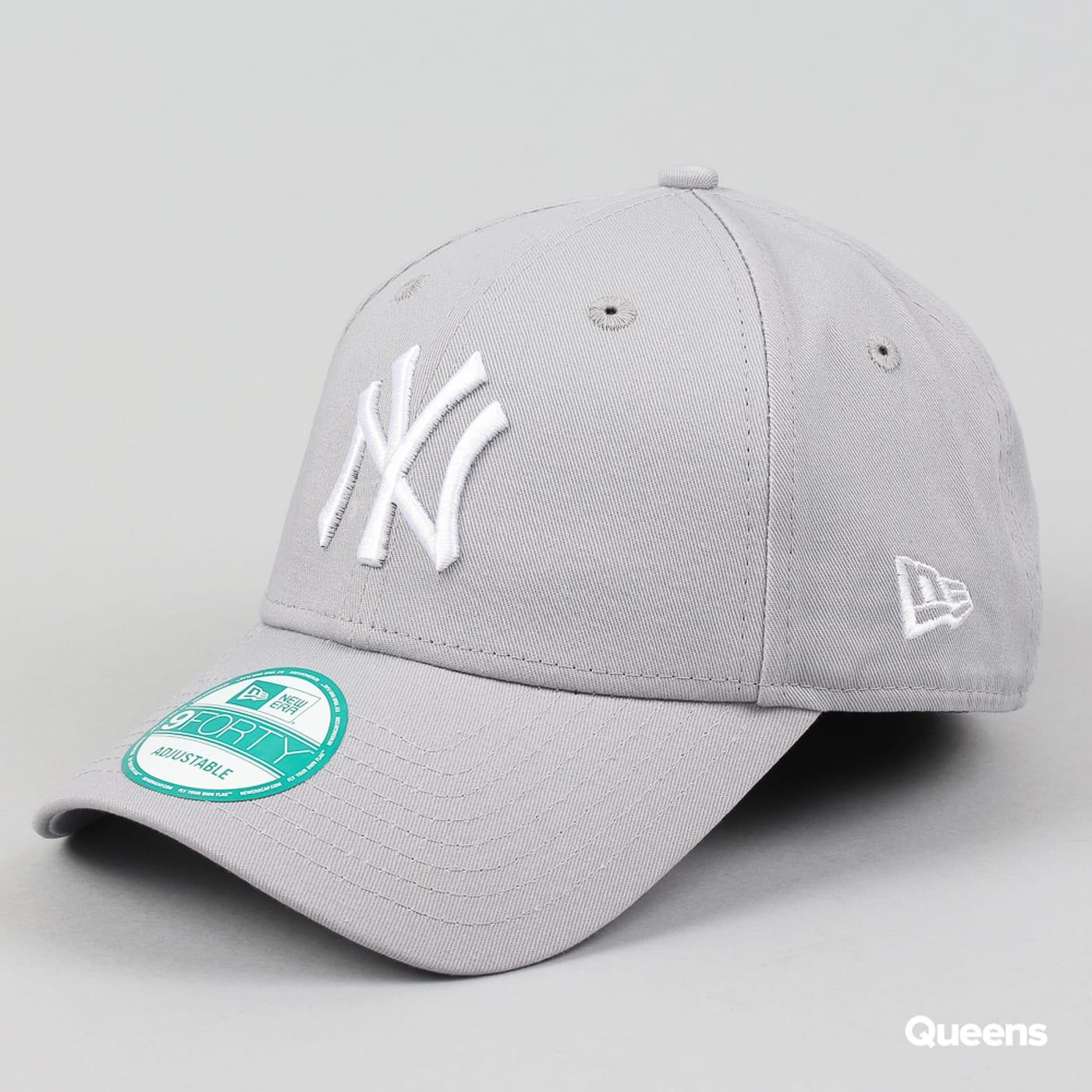 New Era 940 MLB League Basic NY šedá / biela