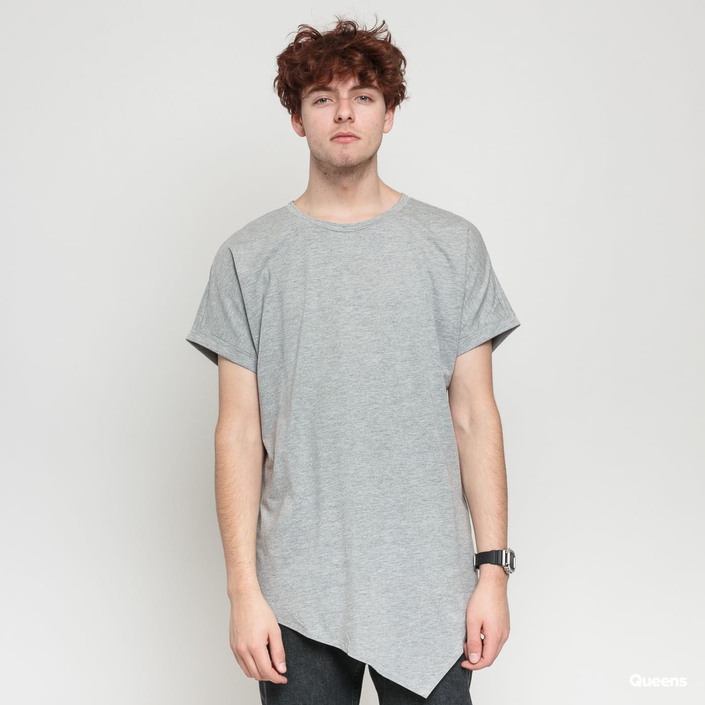 Urban Classics Asymetric Long Tee melange gray