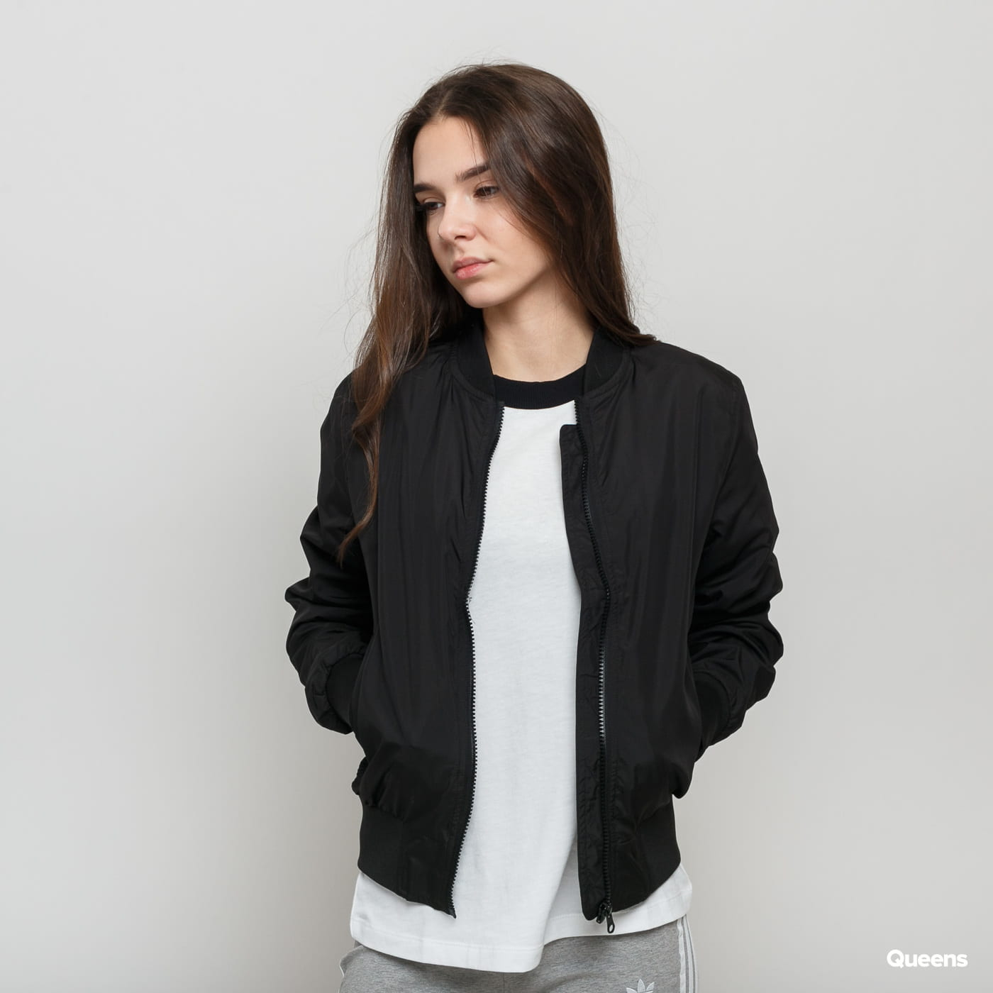 Urban Classics Ladies Light Bomber Jacket čierna