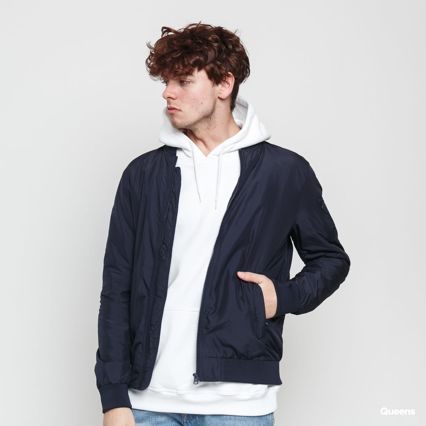 Urban Classics Light Bomber Jacket navy