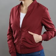 Urban Classics Ladies Light Bomber Jacket vínová