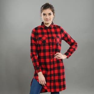 Urban Classics Ladies Checked Flanell Shirt Dress