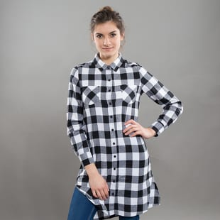 Urban Classics Ladies Checked Flanell Shirt Dress