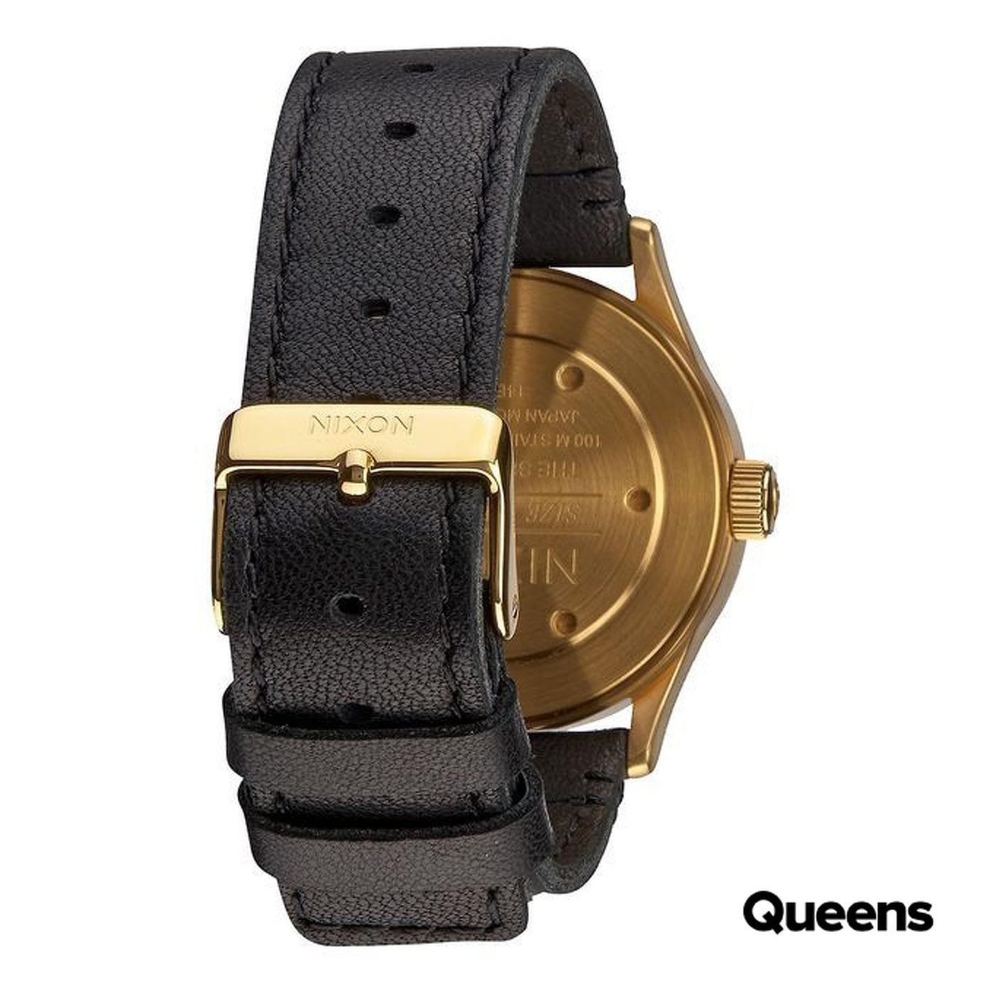 Nixon Sentry 38 Leather zlaté / čierne