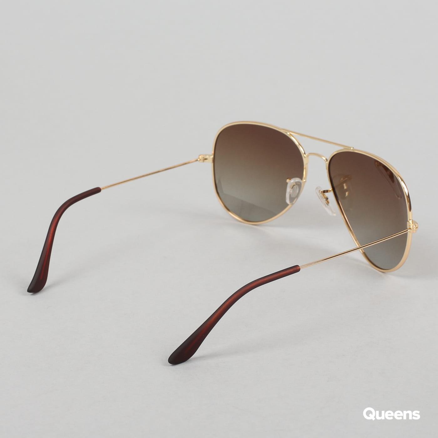 MD Sunglasses PureAv zlaté / hnedé