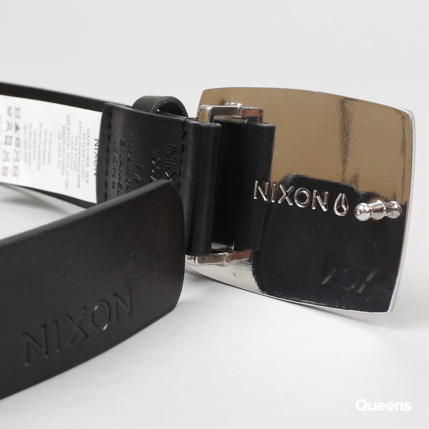 Nixon Enamel Icon Belt II schwarz / silber