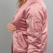 Urban Classics Ladies Satin Bomber Jacket růžová