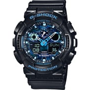 Casio G-Shock GA 100CB-1AER černé / modré