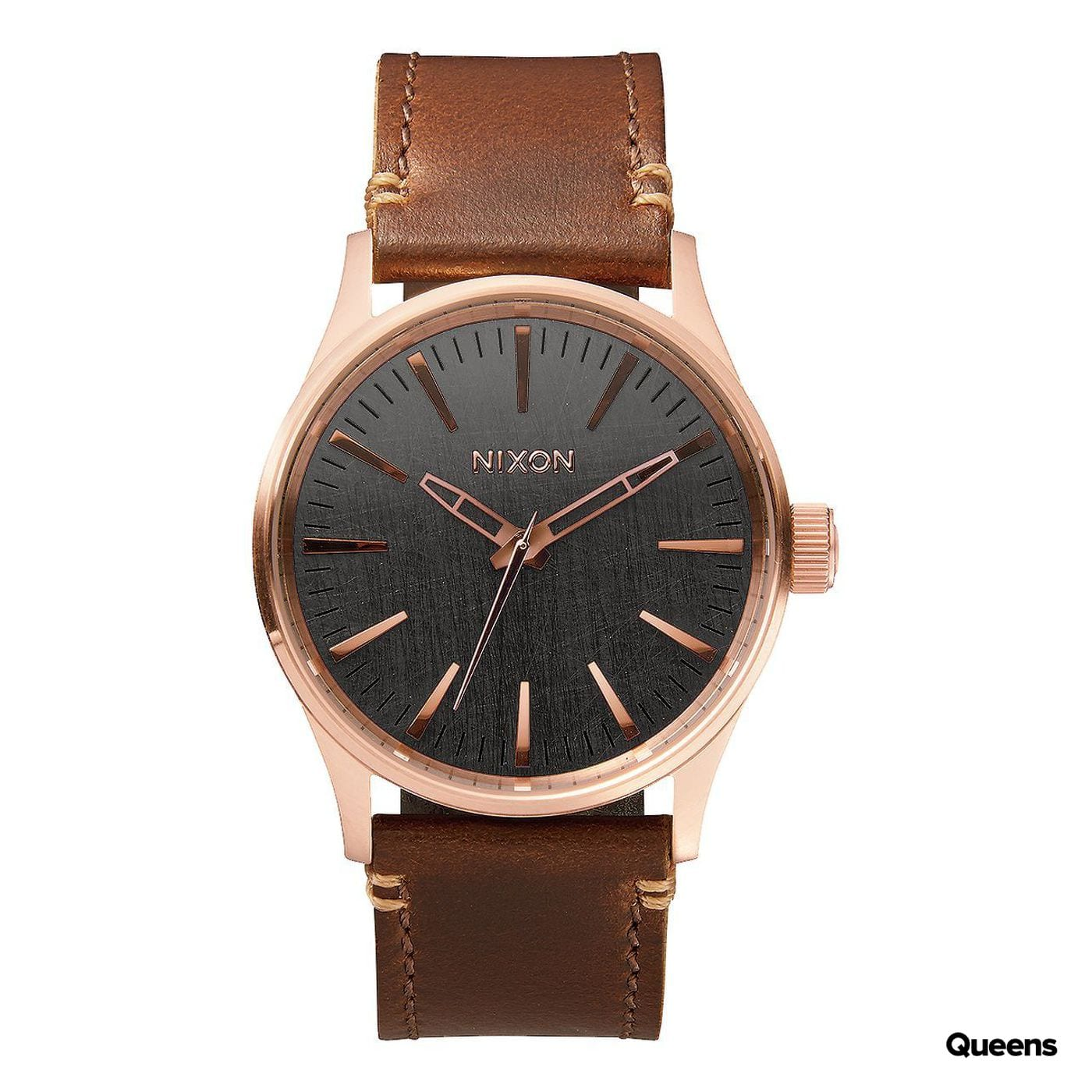 Nixon Sentry 38 Leather brown / bronze