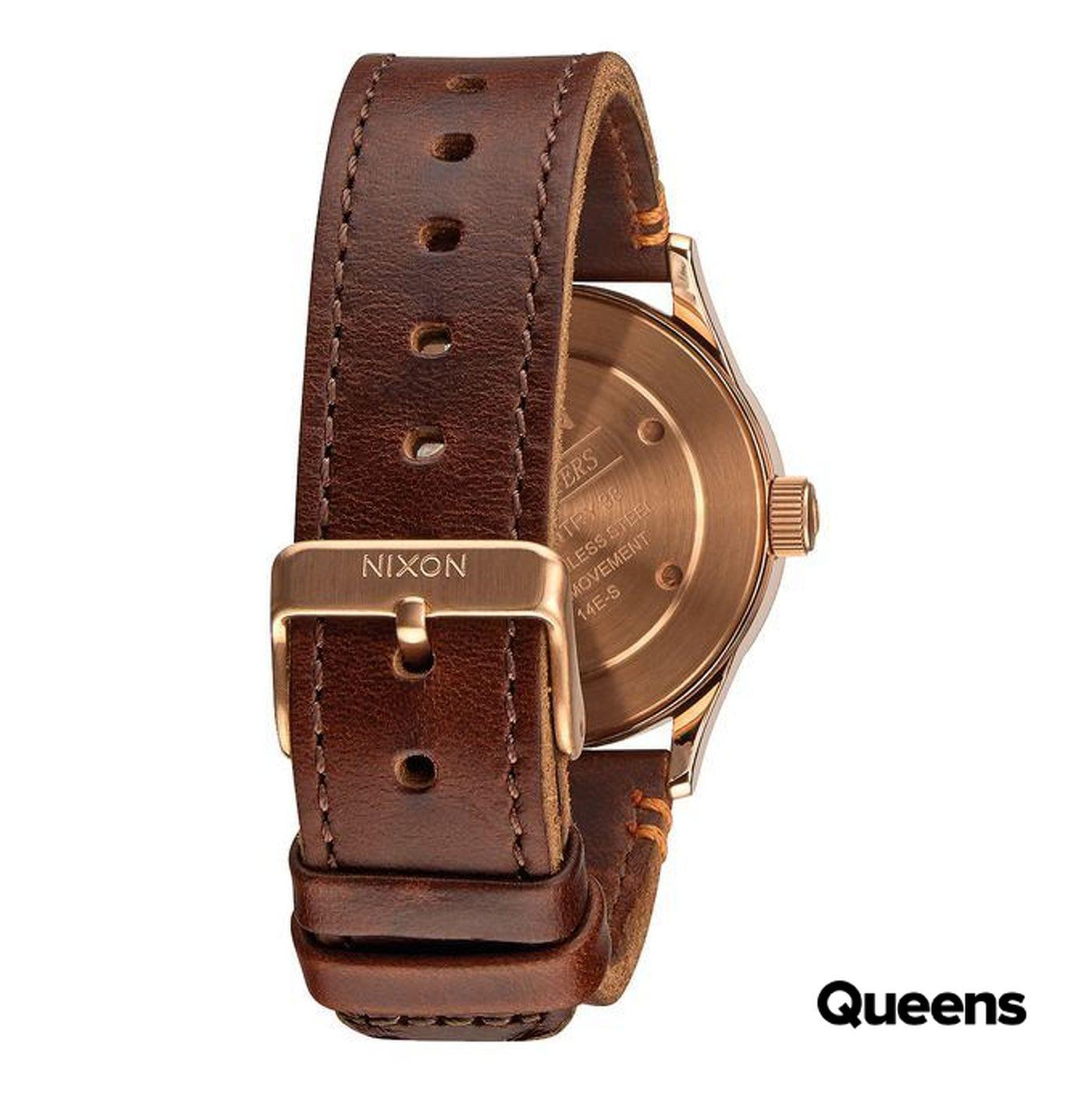 Nixon Sentry 38 Leather braun / bronze