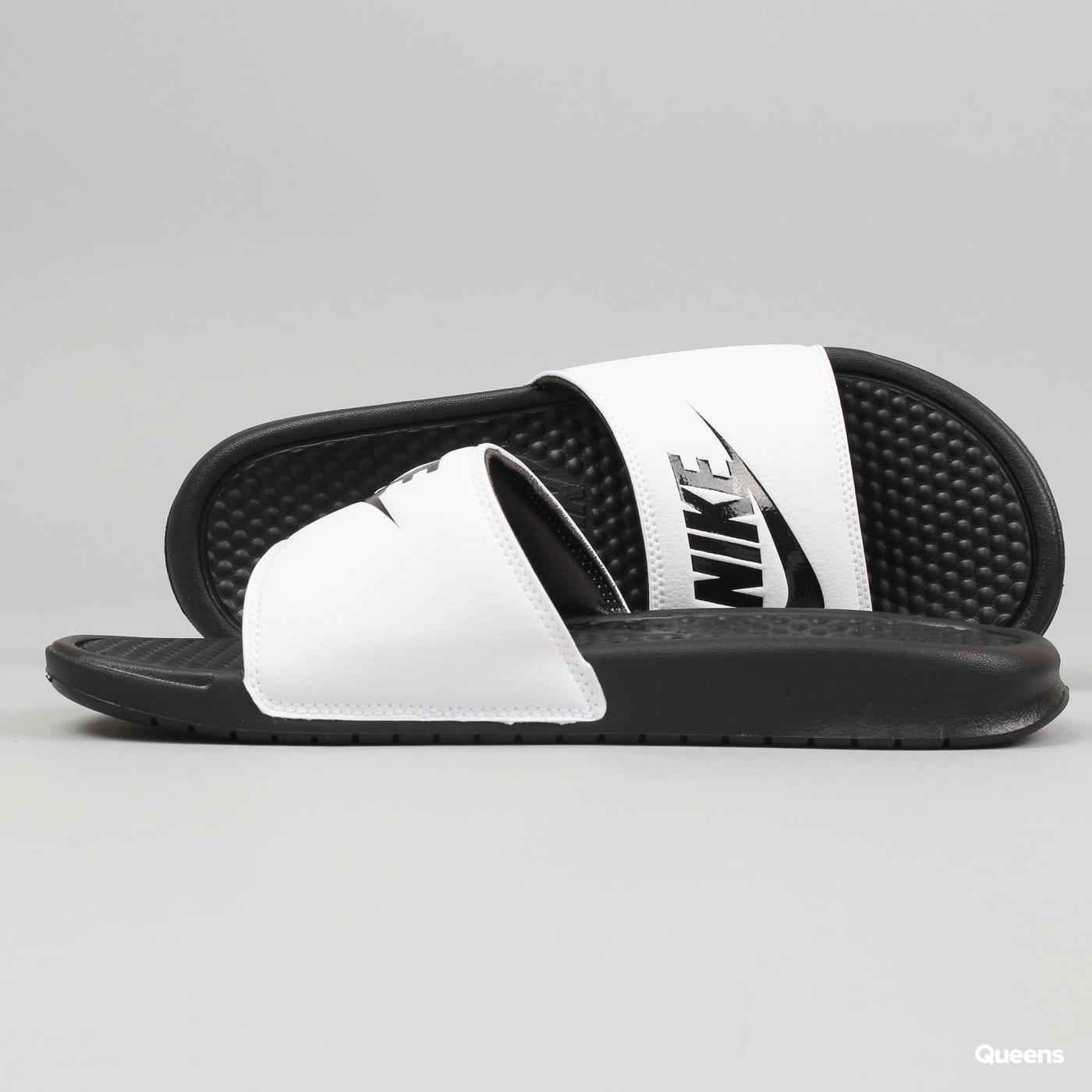 Nike Benassi JDI white / black - black