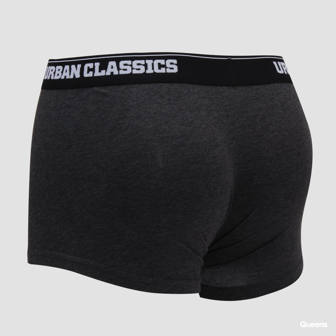 Urban Classics Mens Boxer Shorts Double Pack tmavošedé