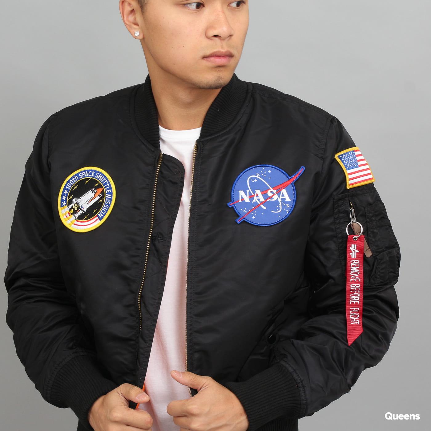 Alpha Industries MA - 1 VF NASA čierna