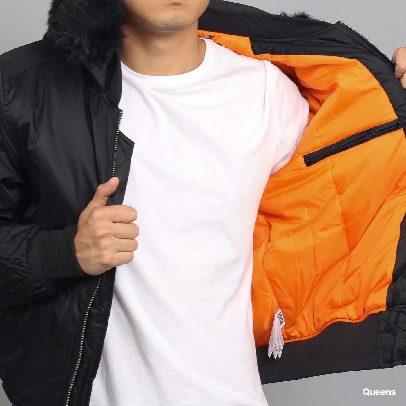 Urban Classics Hooded Basic Bomber Jacket schwarz
