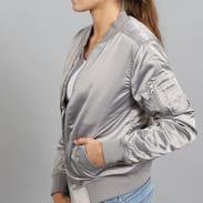 Urban Classics Ladies Satin Bomber Jacket stříbrná