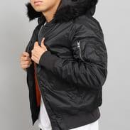 Urban Classics Hooded Basic Bomber Jacket černá