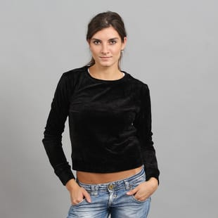 Urban Classics Ladies Short Velvet Crew