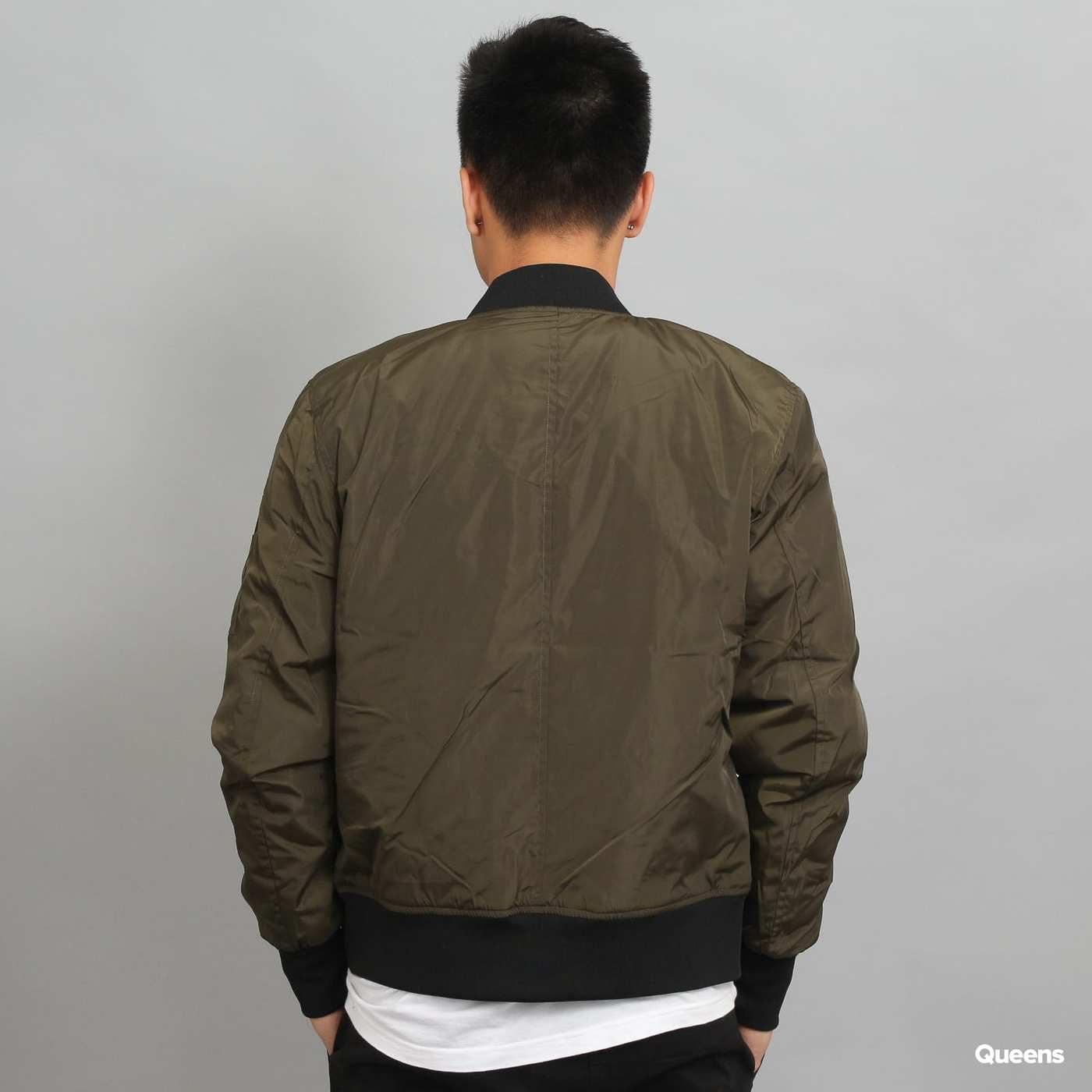 Urban Classics 2-Tone Bomber Jacket dark olive