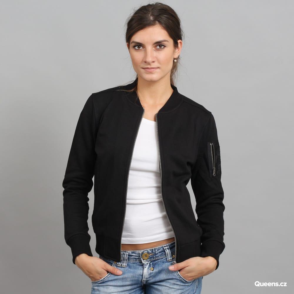 promo code 9d9a1 6fe69 Urban Classics Ladies Sweat Bomber Jacket schwarz