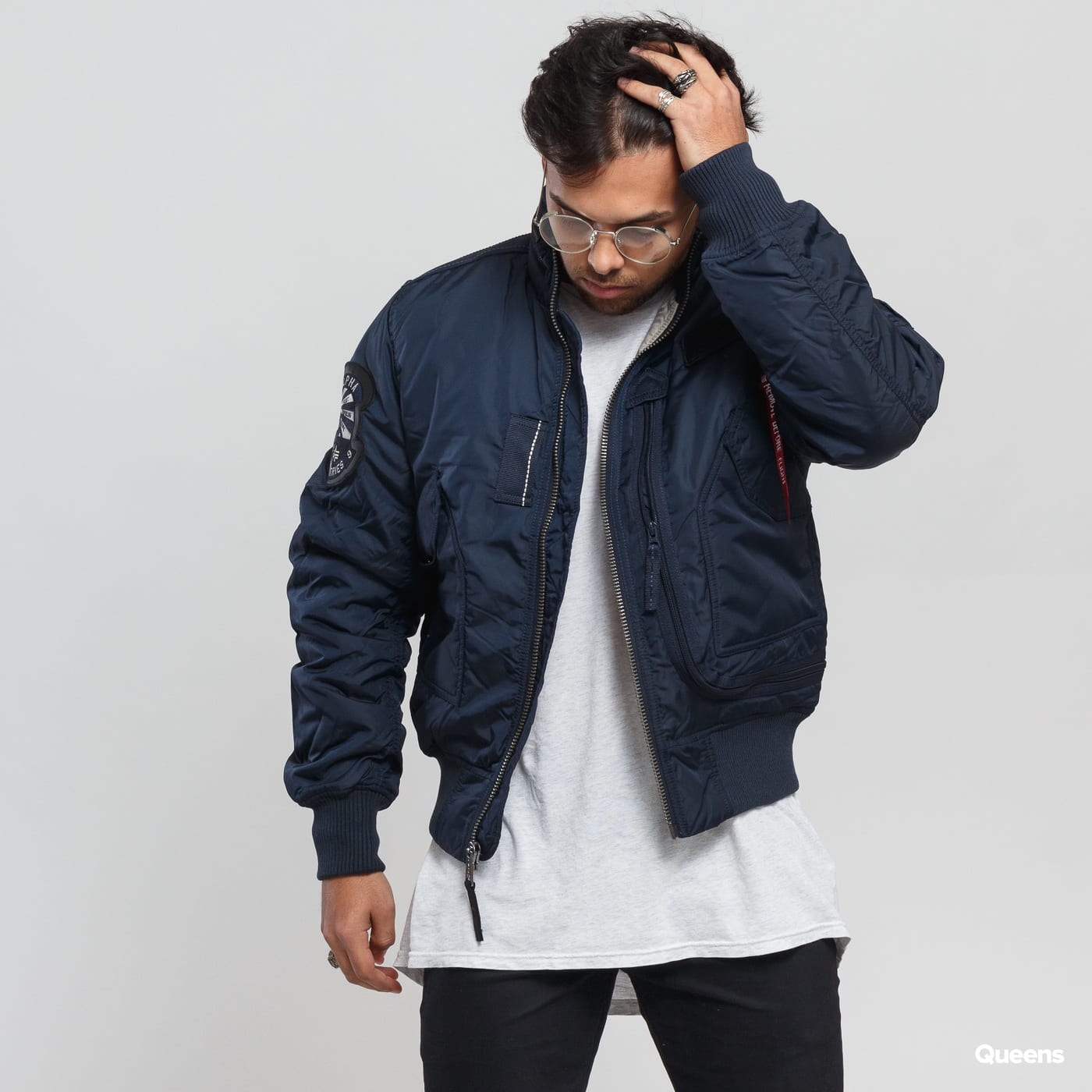 fashion design search for latest unique style Alpha Industries Engine navy