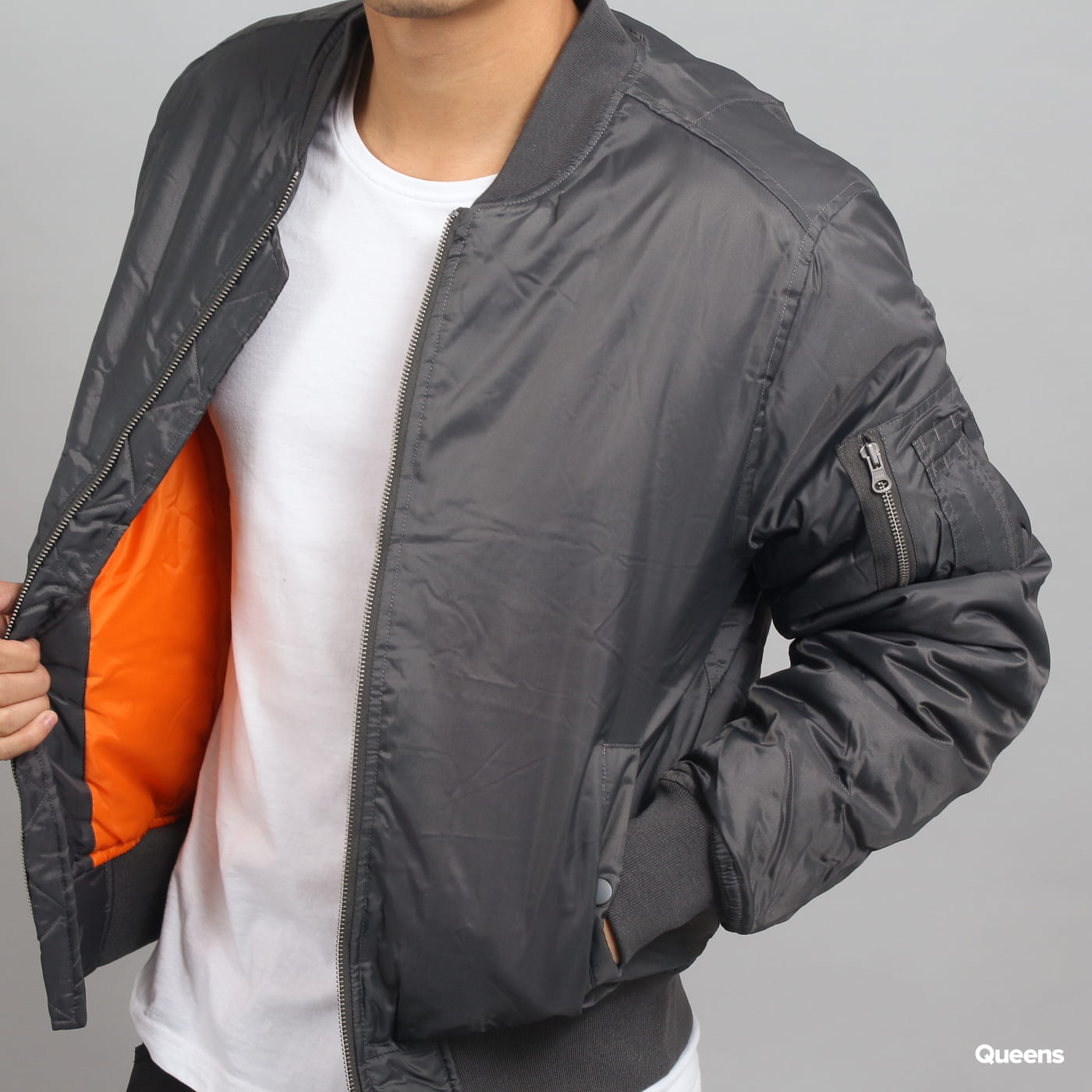 Urban Classics Basic Bomber Jacket dunkelgrau