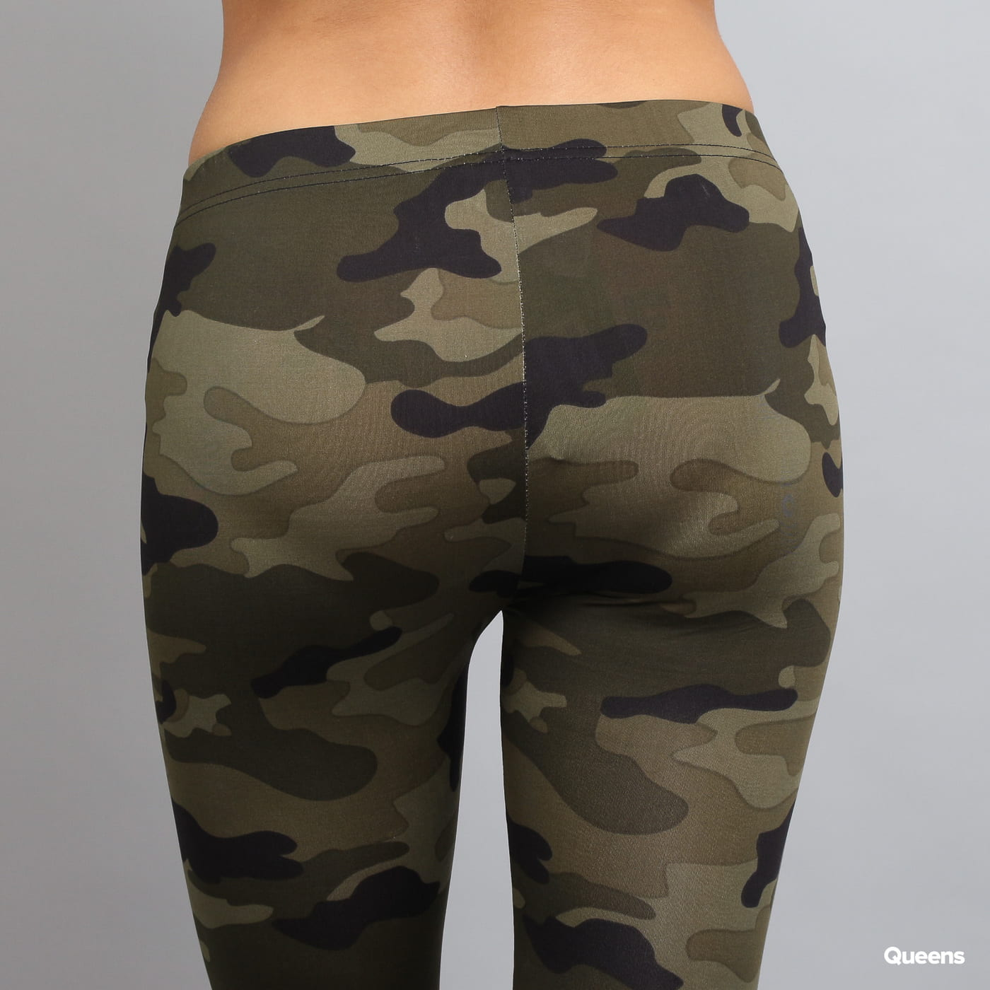 Urban Classics Ladies Camo Leggings camo zelené