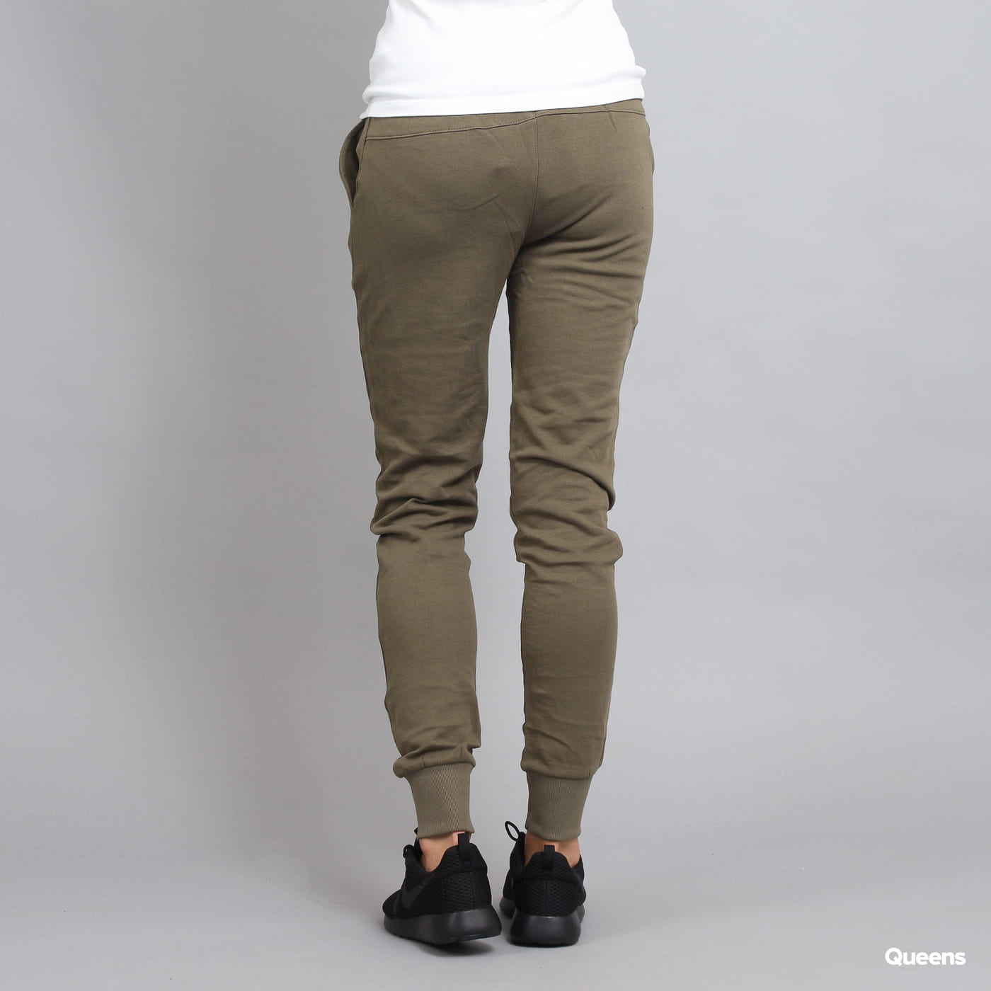 Urban Classics Ladies Cutted Terry Pants olivové