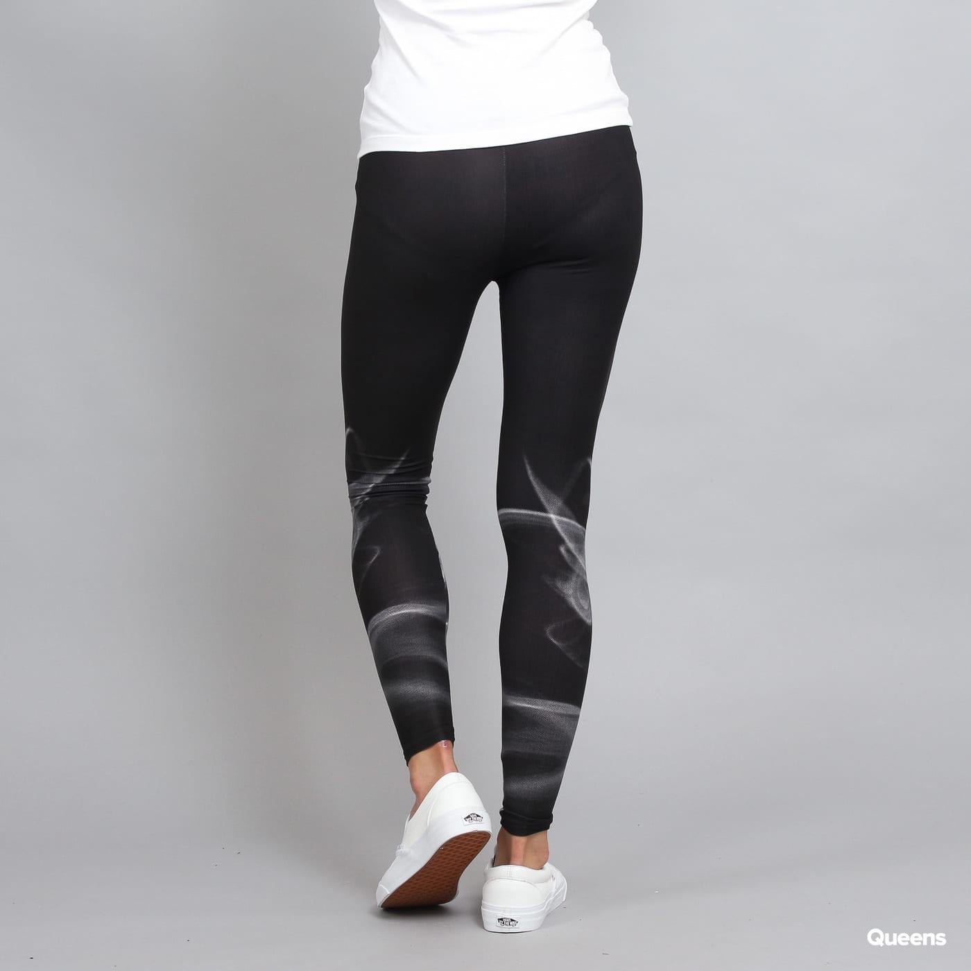 Urban Classics Ladies Smoke Leggins čierne / biele