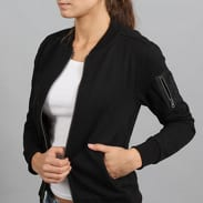 Urban Classics Ladies Sweat Bomber Jacket černá