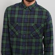 Urban Classics Checked Flanell Shirt 3 tmavě zelená / navy / černá