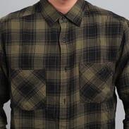 Urban Classics Checked Flanell Shirt 3 olivová / černá