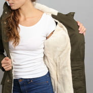 Urban Classics Ladies Sherpa Lined Cotton Parka olive