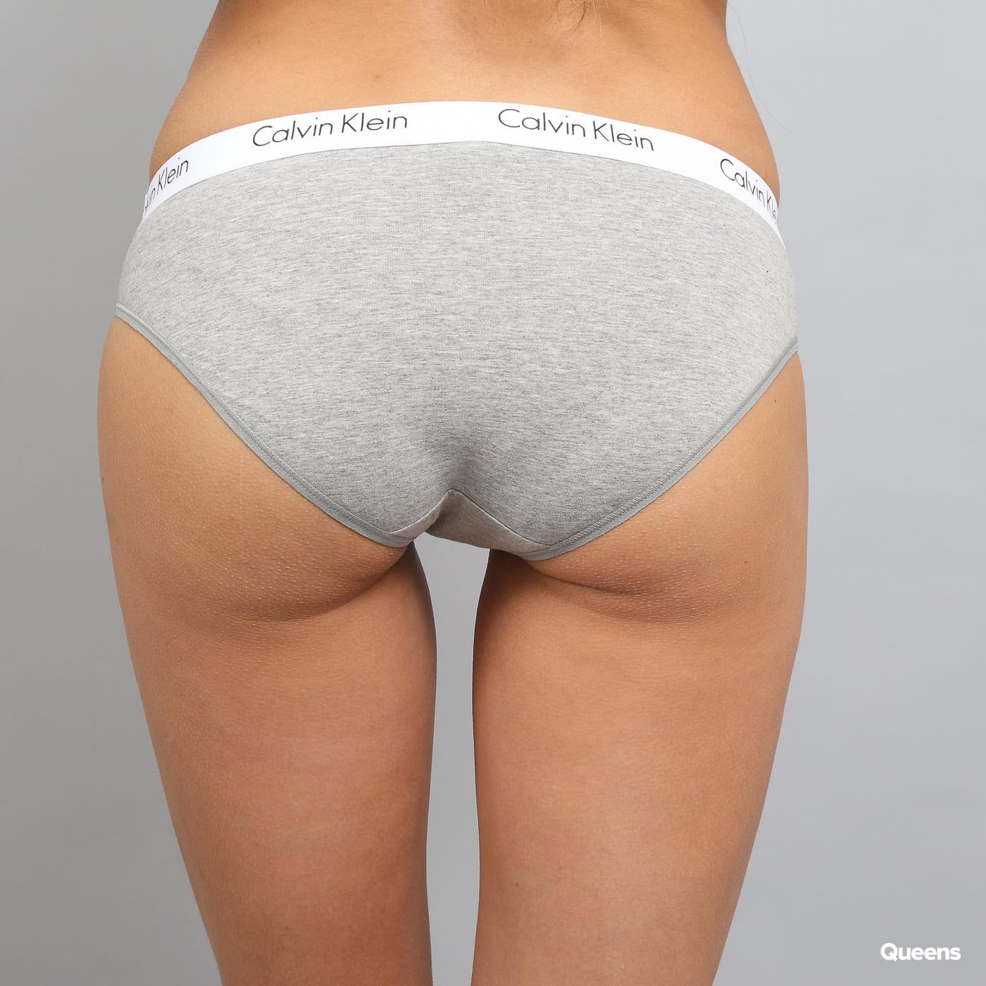 Calvin Klein 2 Pack Cotton Bikini - Slip C/O melange šedé / biele / čierne