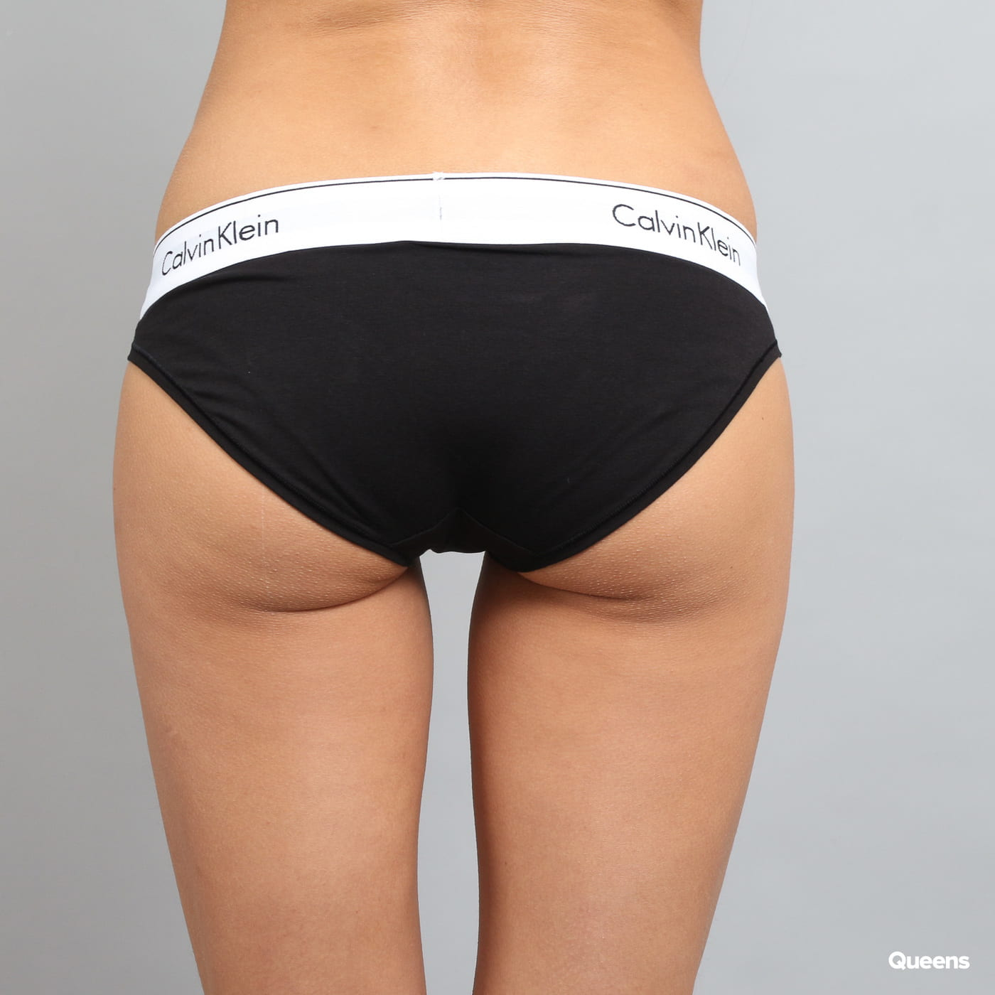 Calvin Klein Women's Bikini C/O black satin