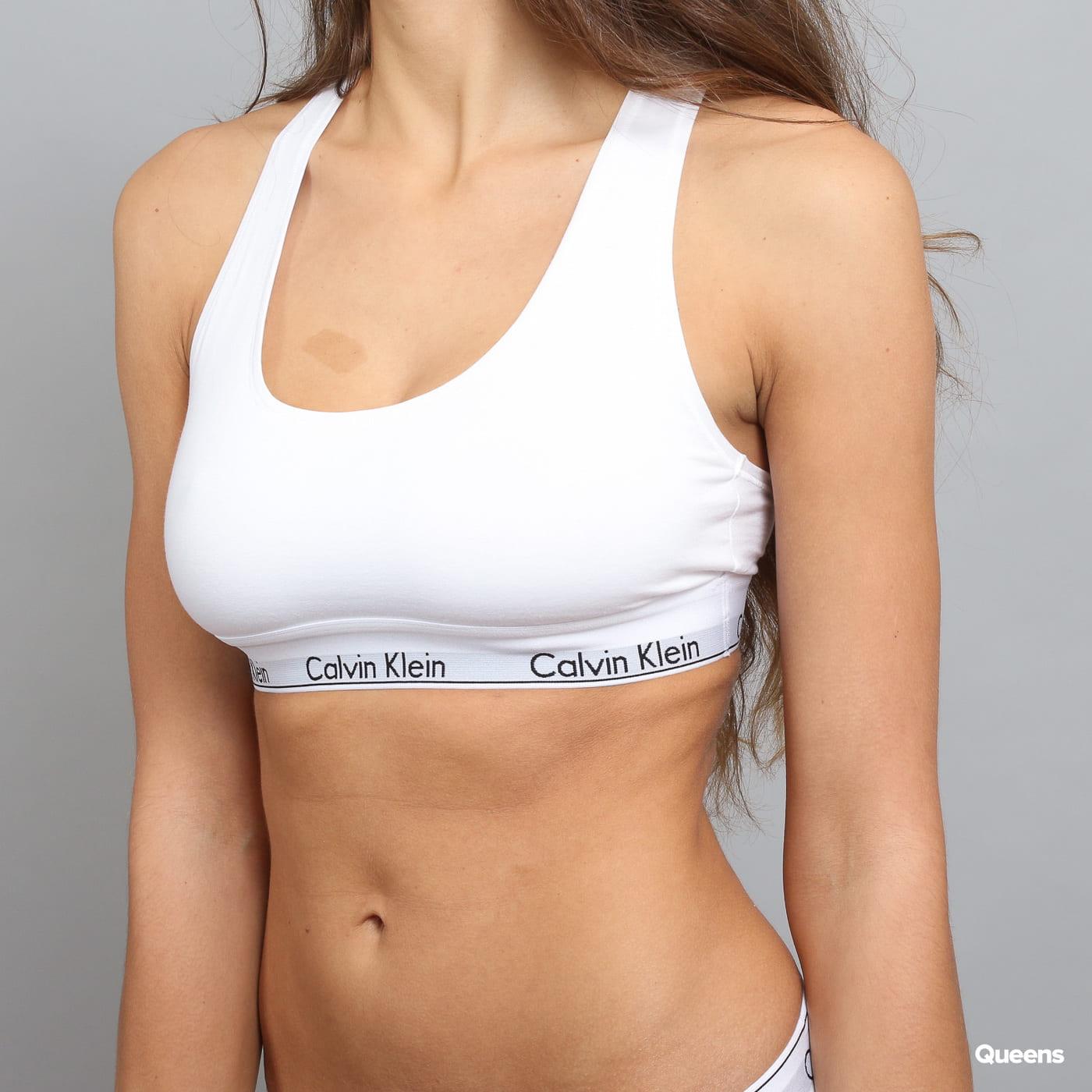 Calvin Klein Women's Bralette C/O biela / šedá / čierna