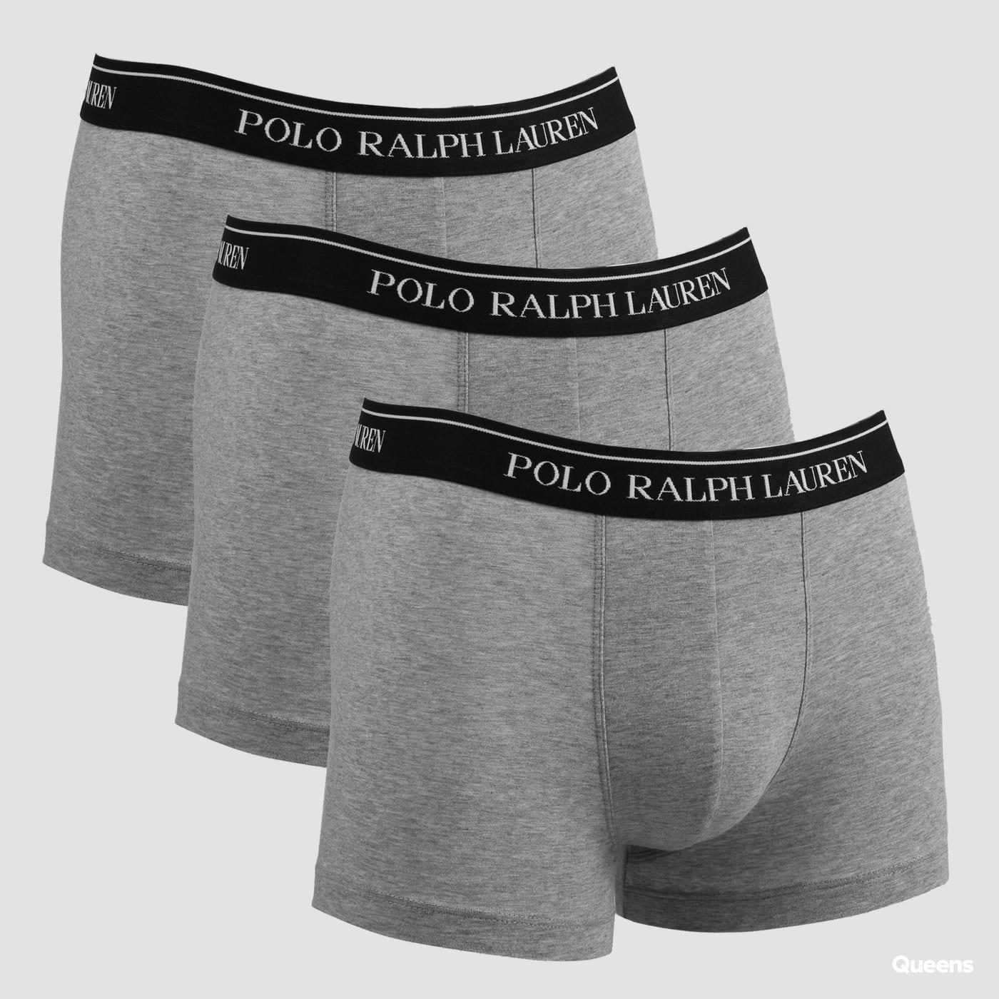 Polo Ralph Lauren 3 Pack Classic Trunks C/O grau melange