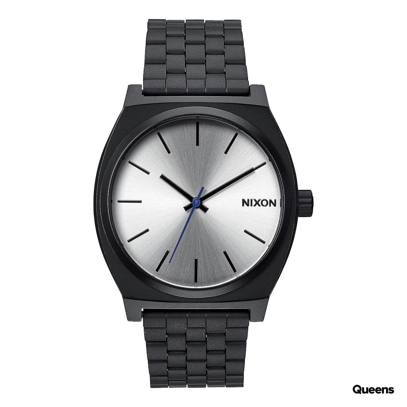 Nixon Time Teller čierne / strieborné