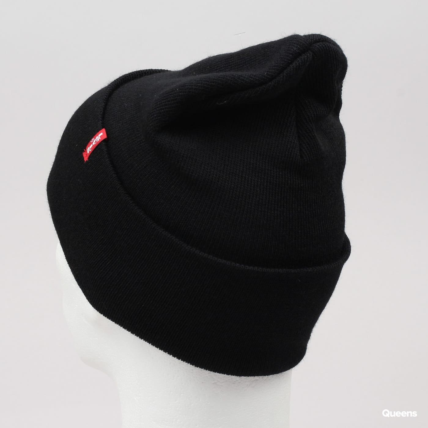 Levi's ® Slouchy Red Tab Beanie černý