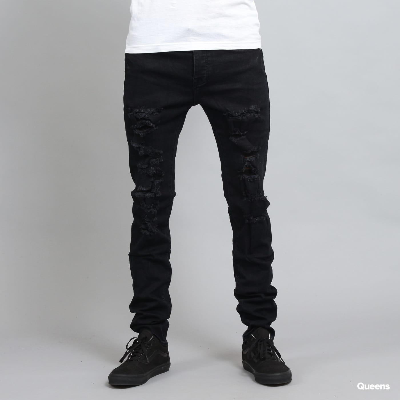Sixth June Destroy Jeans schwarz