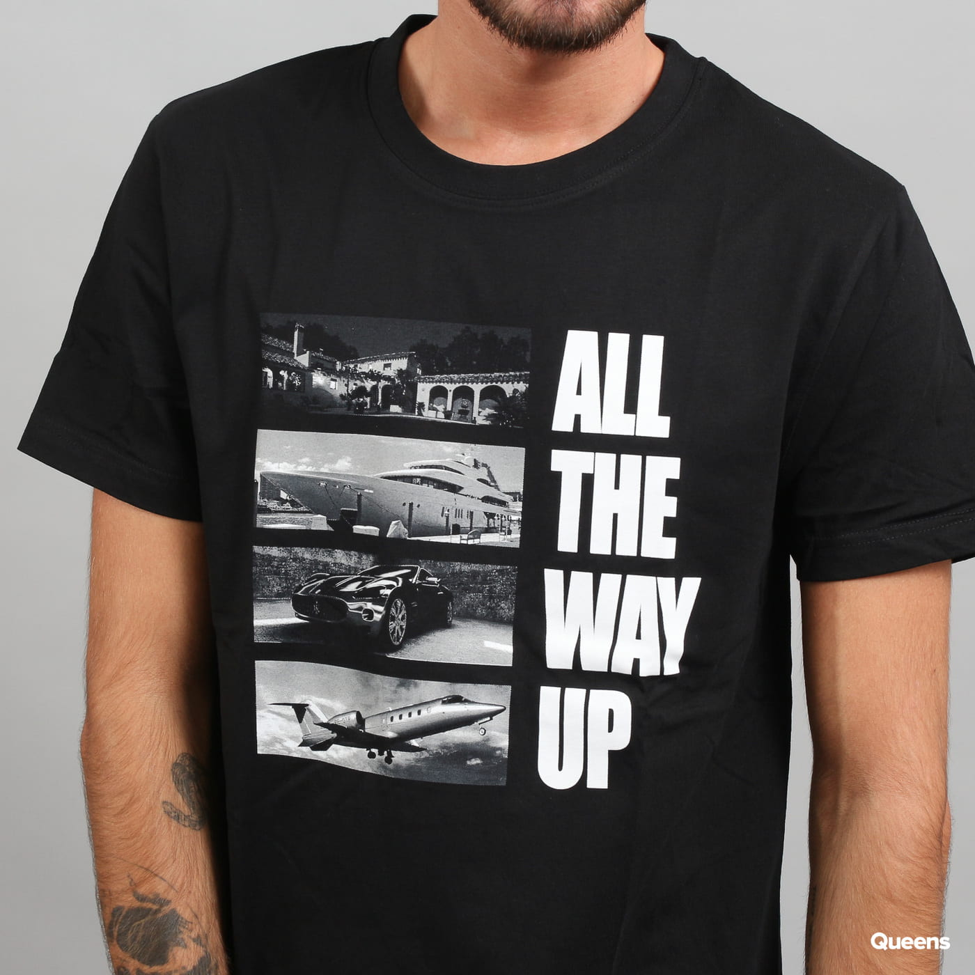 Urban Classics All The Way Up Stairway Tee čierne