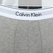Calvin Klein 2 Pack Trunks Modern Cotton Stretch C/O černé / melange šedé